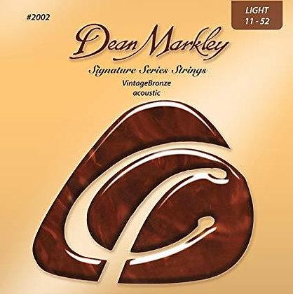 סט מיתרים לגיטרה אקוסטית Dean Markley 2002 Vintage Bronze 11-52