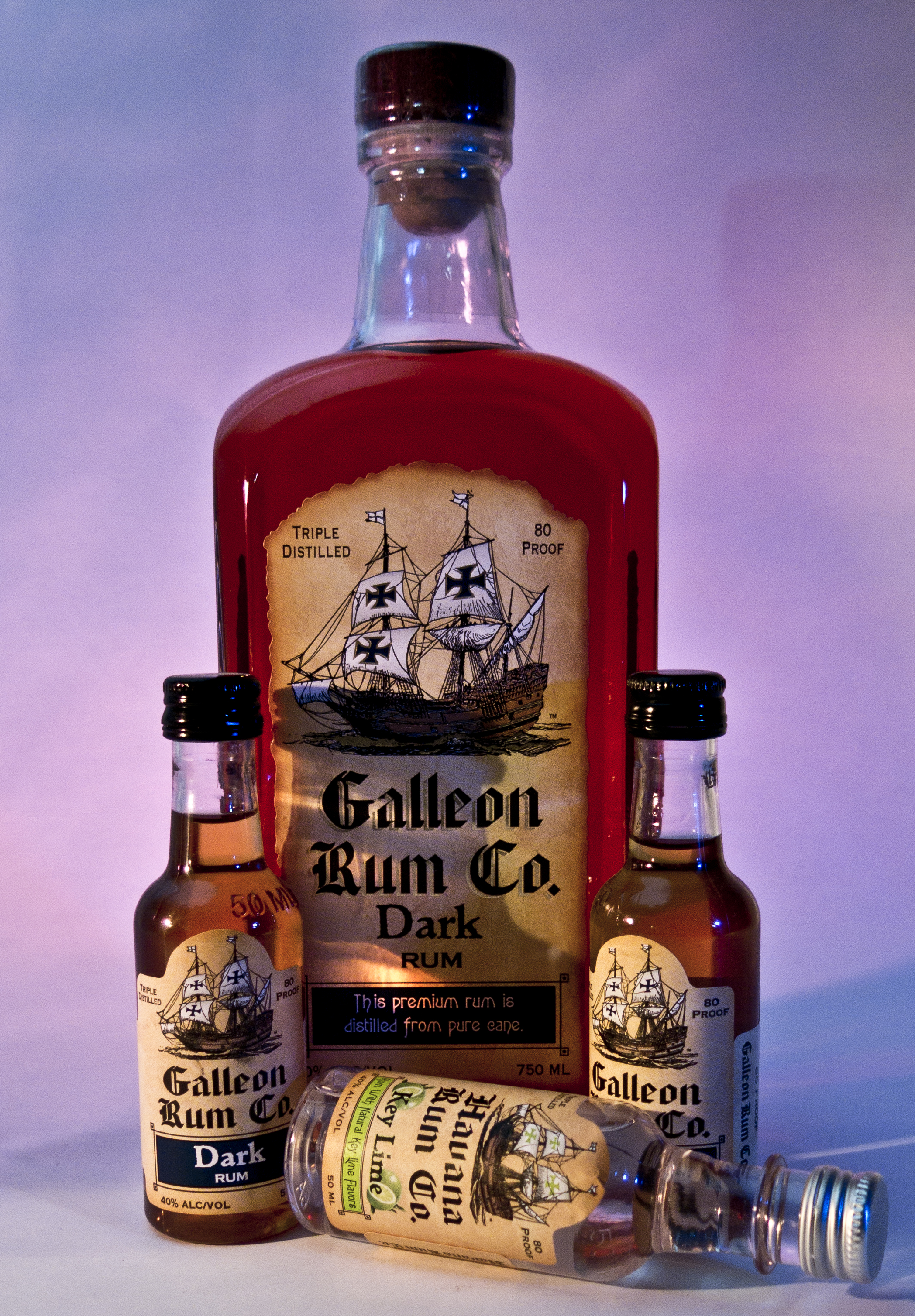 Galleon Rum Co All bottles