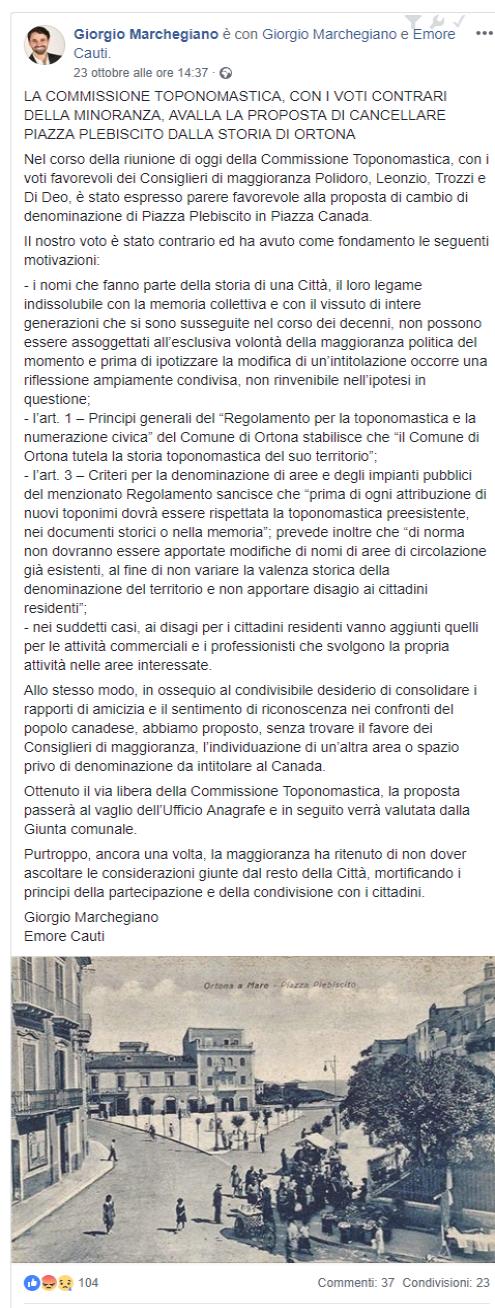 post Giorgio Marchegiano