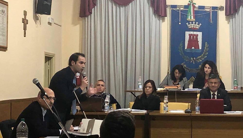 Angelo Di Nardo Consiglio comunale Ortona 30 novembre 2018