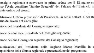 Consiglio Regionale Abruzzo 12/03/19 - Liveblog della prima seduta