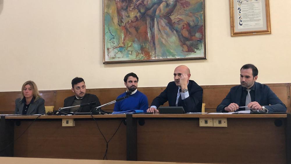 Conferenza stampa opposizione
