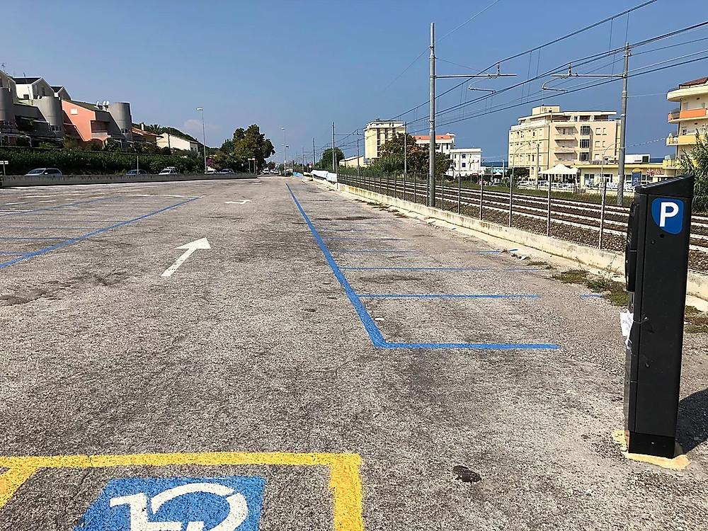 foto parcheggi lido Riccio Ortona