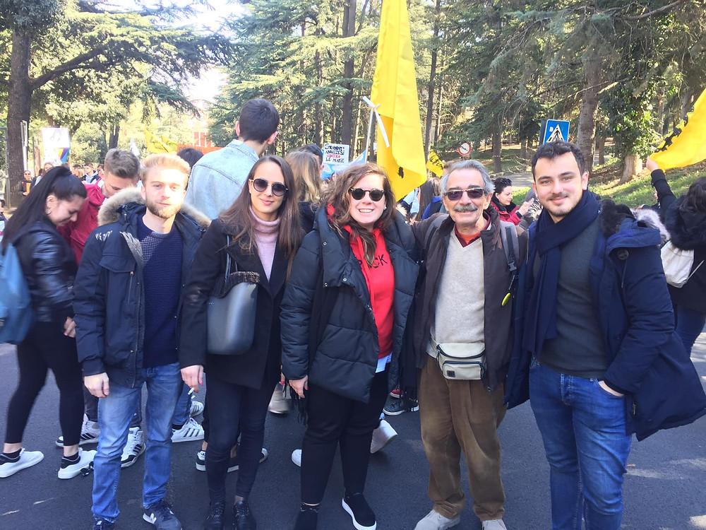 La Consulta Giovanile di Ortona durante la manifestazione a L'Aquila