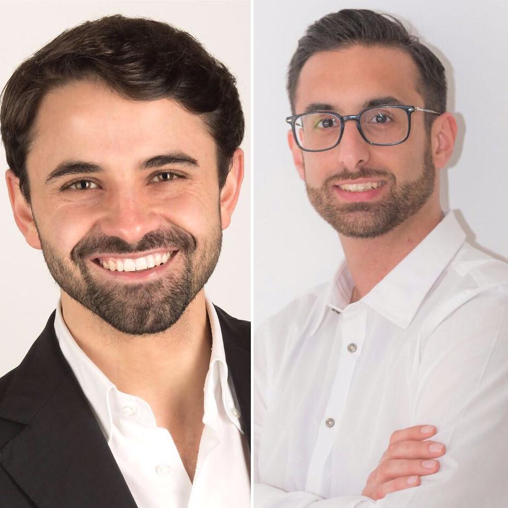 A sinistra Marchegiano (28 anni), a destra Montebruno (26)