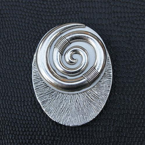 CLASSIC Spirale Ovale Argenté