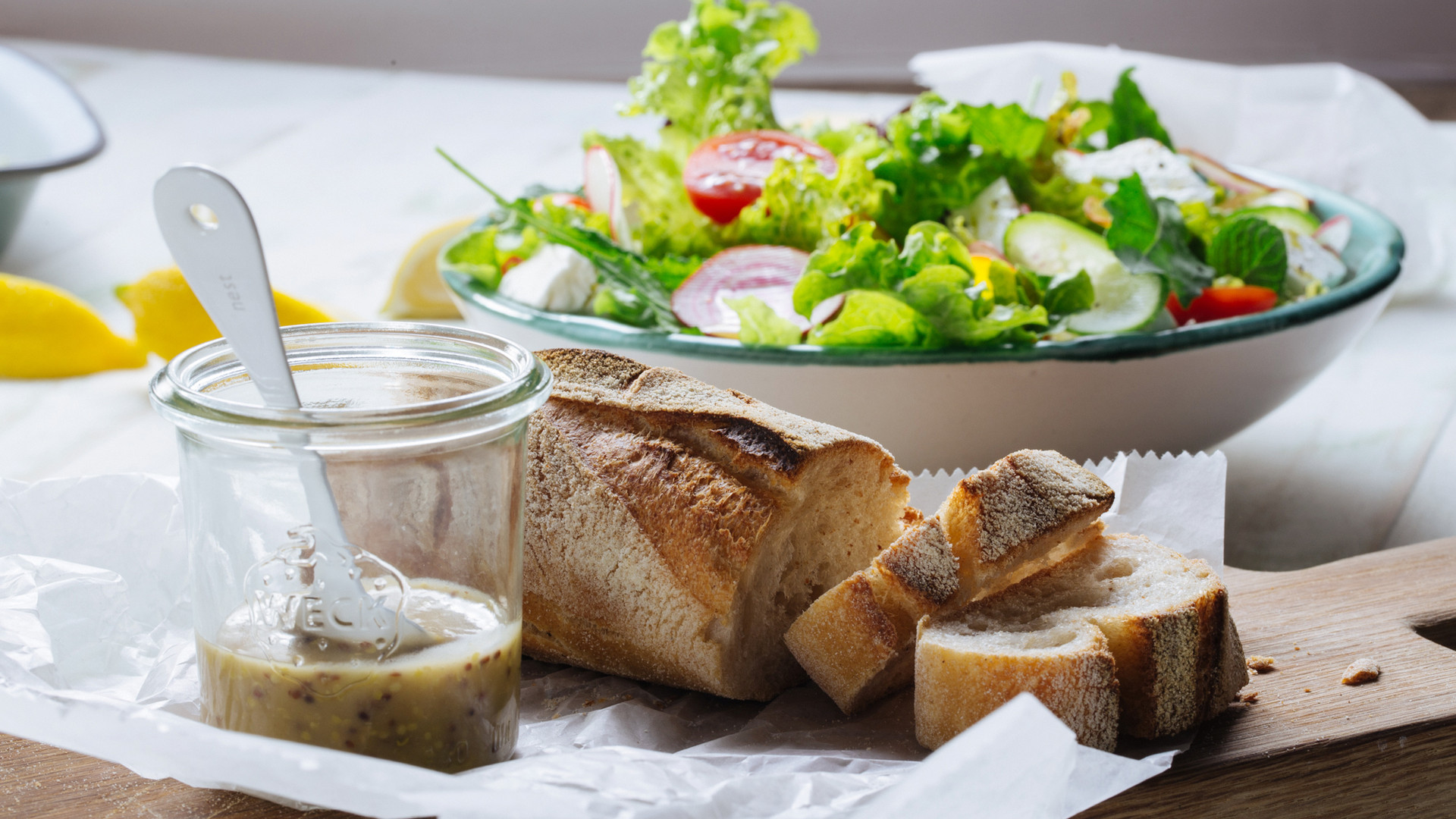 Salad and Bread
