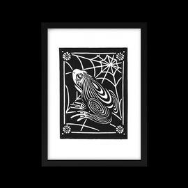 Linocut Print - Frog