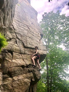Rock climning in the Gunks (NY, USA)