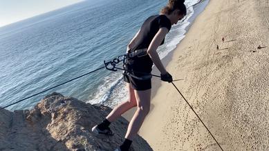 Aussie rappelling in Malibu