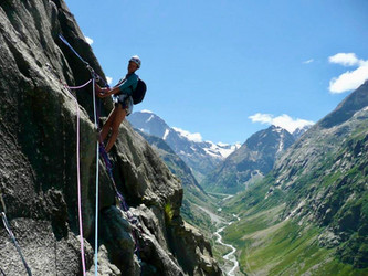 Mountain climbing in Oisan, France