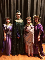 """The Queen of the Night in """"The Magic Flute"""" by Mozart, with my three Ladies"""