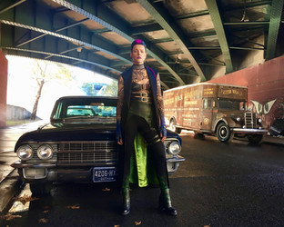 "On set of ""Gotham"""