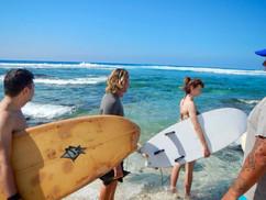 Surfing in the Big island, Hawaii
