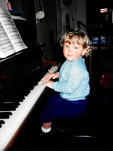 22 months old me at my Mom's piano