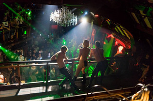 Performing in a NYC nightclub with my backup dancers