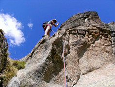 Rock climbing in the Massif des Ecrins (Oisan, France)