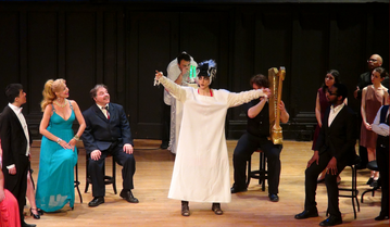 """Singing the role of Olympia in the opera """"The Tales of Hoffman"""" by Offenbach"""