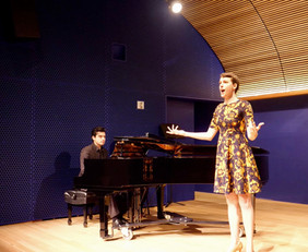 "Singing Zerbinetta aria from ""Ariadne auf Naxos"" by Richard Strauss, at Opera America, NYC"