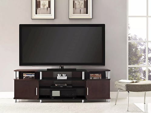"""Kimmel TV Stand for TVs up to 70"""" Wide - Cherry - Room & Joy"""