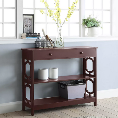 Omega 1 Drawer Console Table Espresso Brown