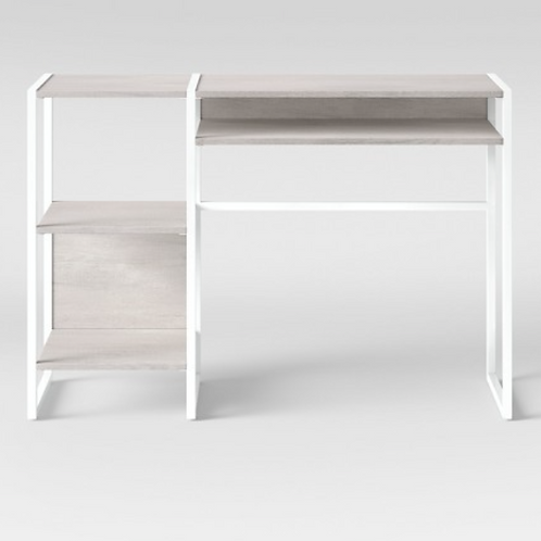 Paulo Wood Writing Desk with Storage Weathered White - Project 62™