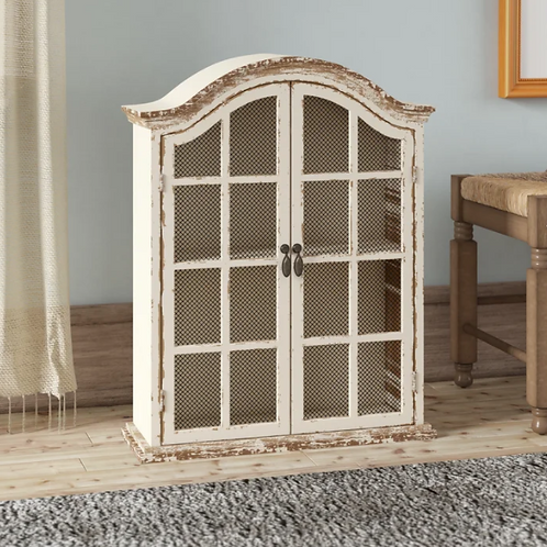 Frey Wood Metal Wall Accent Cabinet