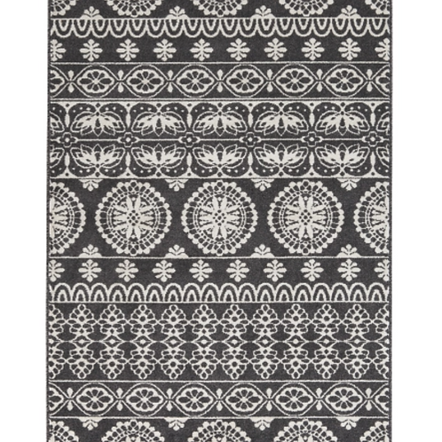 Jicarilla - Black/White - 8' x 10'