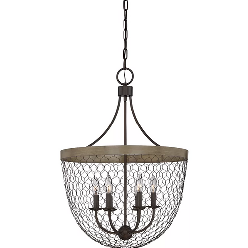 Brynn 6-Light Single Bowl Pendant