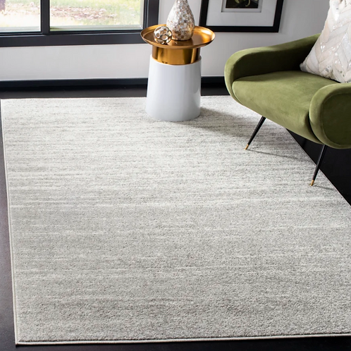 4' x 6' Mcguire Ivory/Silver Area Rug