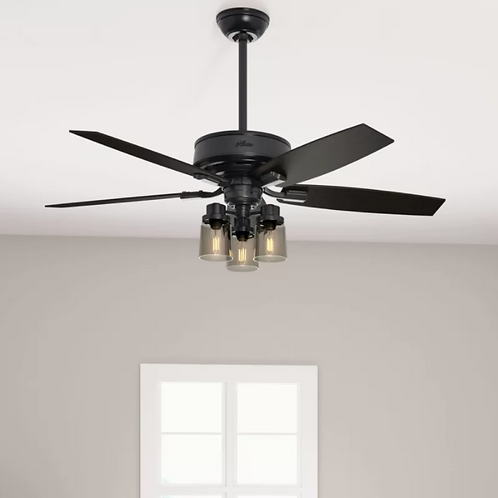 "52"" Bennett 5 - Blade Standard Ceiling Fan with Remote Control and Light Kit Inc"