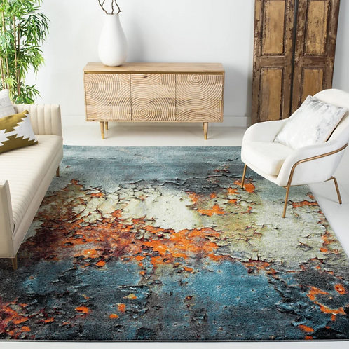 9' x 12' Acord Abstract Blue Area Rug