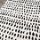 Thumbnail: 5x8 Polka Dots Handmade Tufted Wool Ivory/Black Area Rug