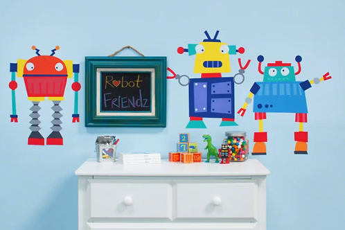 Robots Rule Peel and Place Wall Decal Set