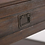 """Thumbnail: 38"""" Garret Solid Acacia Wood Square Coffee Table Distressed Charcoal Brown"""