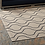Thumbnail: 5x8 Linza Wave Abstract Trellis  Indoor and Outdoor Area Rug in Beige and Gray