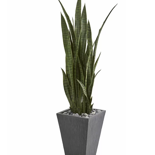 """57"""" Artificial Snake Plant in Planter"""