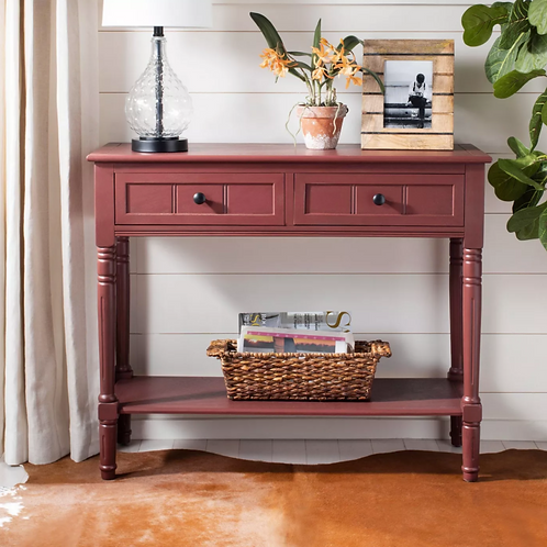 Console Table Red