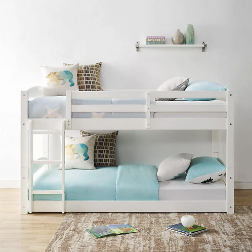 (See Note) Twin Bertha Floor Bunk Bed White