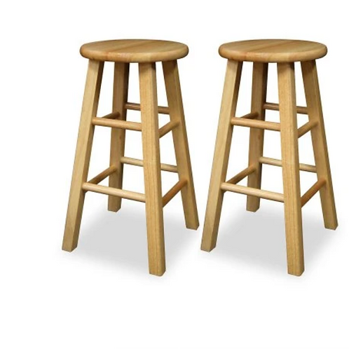 """(Set of 2) Winsome Wood 24"""" Counter Stool - Natural"""