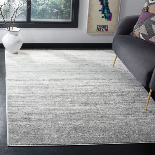 6' x 9' Mcguire Ivory/Silver Area Rug