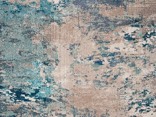 Square 3' Abderus Abstract Blue/Gray Area Rug