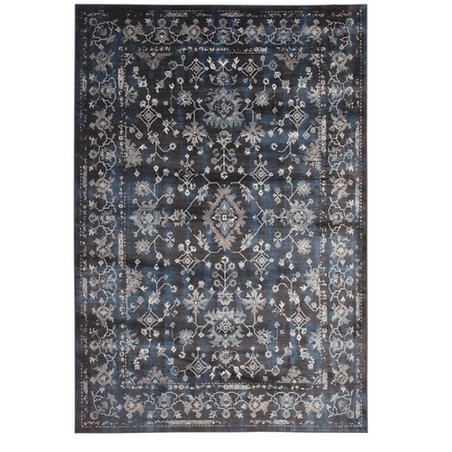 """5'3"""" x 7'6"""" Beecroft Floral Blue/Natural Area Rug"""