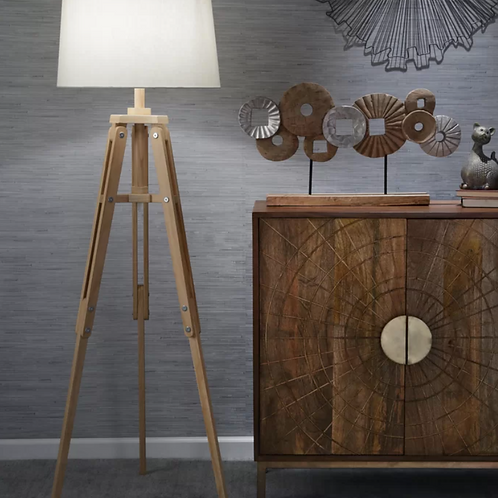 "Silber Wood 63"" Tripod Table Lamp"