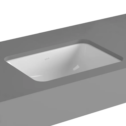 Seville Vitreous China Square Undermount Bathroom Sink with Overflow