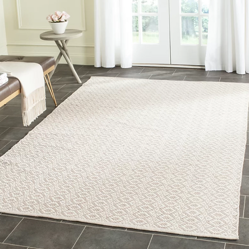 5' x 7' Branchview Hand-Woven Cotton Ivory/Beige Area Rug