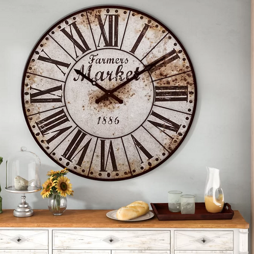 "Oversized Midcre 47"" Wall Clock"