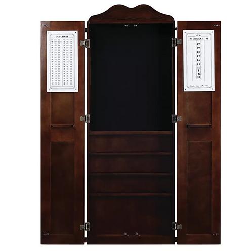 Dartboard Cabinet Wall Cue Rack