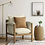 Thumbnail: Archdale Wood and Upholstered Accent Chair - Cream
