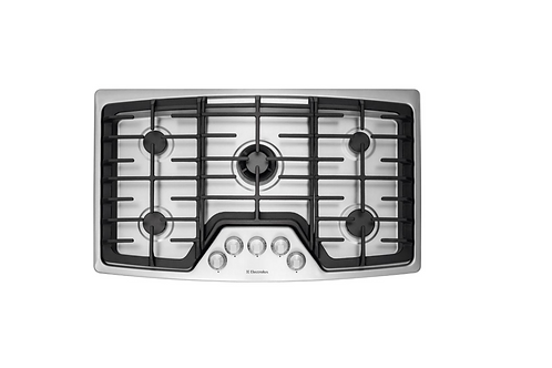 WaveTouch 36 in. Gas Cooktop in Stainless Steel EW36GC55PS